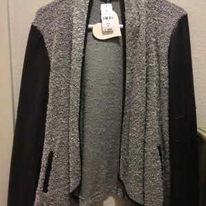 NWT grey LF sweater jacket!